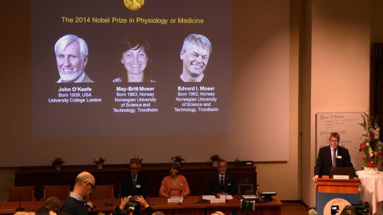"""الأمريكي أوكيفي يقتسم """"نوبل للطب"""" مع النرويجيين موسر لاكتشاف """"جي بي إس"""" الدماغ"""
