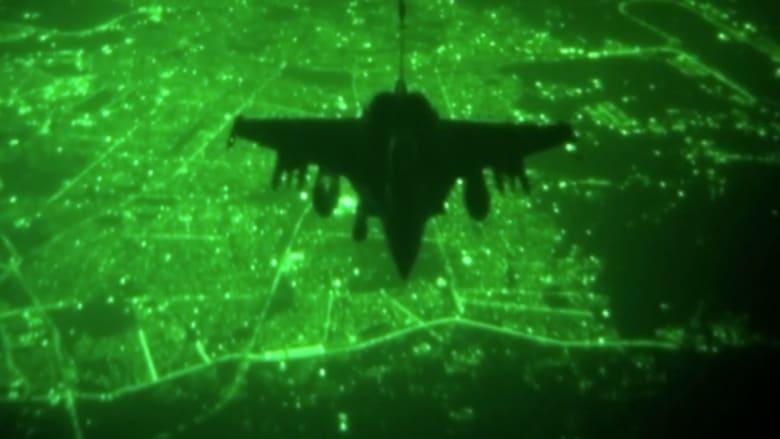 """بالفيديو.. عمليات جوية ليلية ضد مواقع """"داعش"""" بأجواء العراق"""