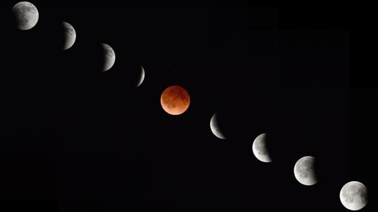 بالصور.. قمر الدم يحيي سكان العالم
