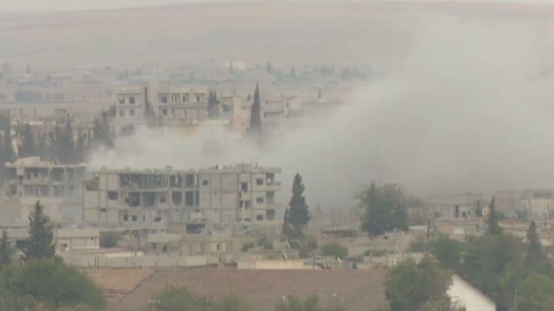 بالفيديو.. معارك طاحنة في كوباني بكاميرا CNN