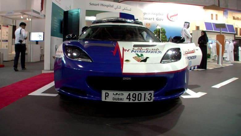 """سيارة """"لوتس"""" الرياضية تستخدم للإسعاف في دبي"""