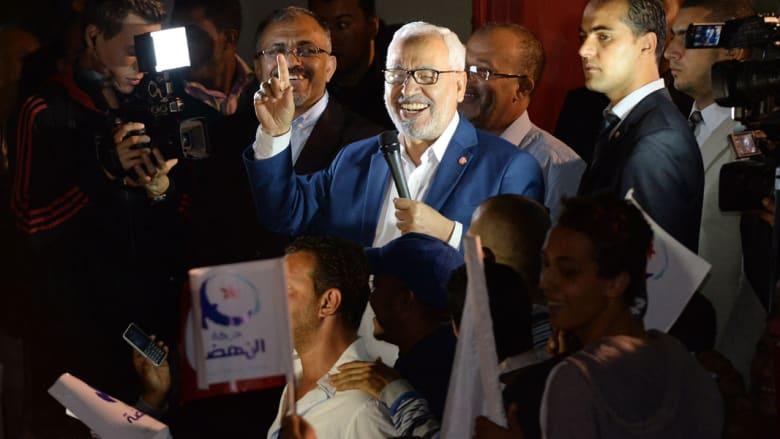 """الغنوشي يهنئ قايد السبسي ومساعدوه يؤكدون رغم تراجع النهضة أن الحرية """"باقية وتتمدد"""" في تونس"""
