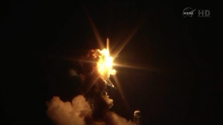 بالفيديو.. انفجار صاروخ تابع لناسا بعد إطلاقه بثوان