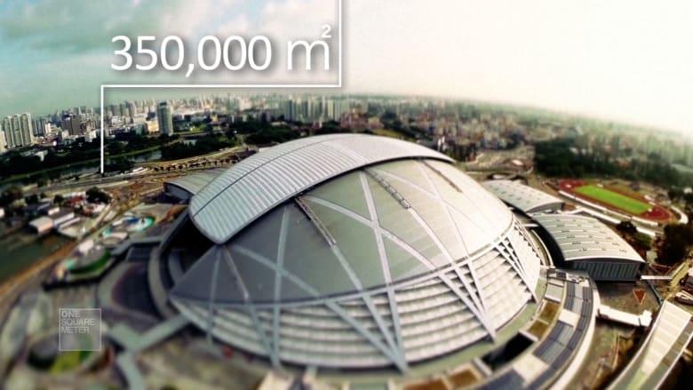 ملعب بمليار دولار في سنغافورة يبهر المعماريين