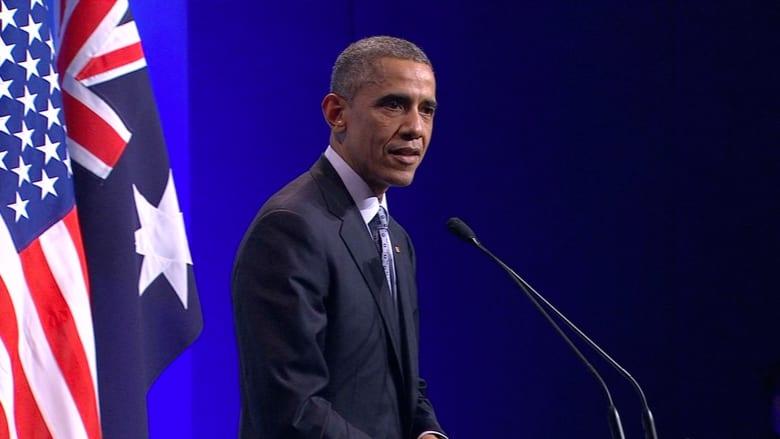 """أوباما: إذا حصل """"داعش"""" على أسلحة نووية لن أنتظر توصية """"ديمبسي"""" لإرسال قوات برية"""