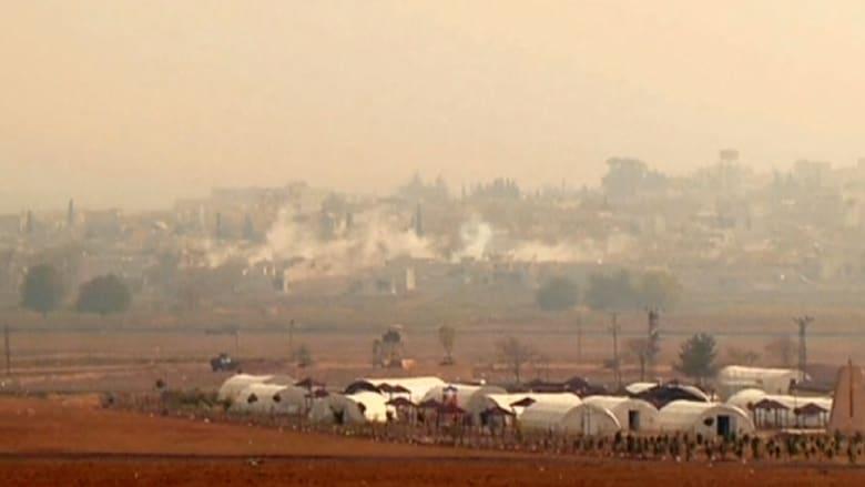 مشاهد من المعارك في كوباني
