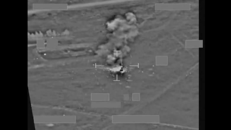 """بالفيديو.. هجوم جوي بريطاني على مركبة اتصالات تنظيم """"داعش"""""""