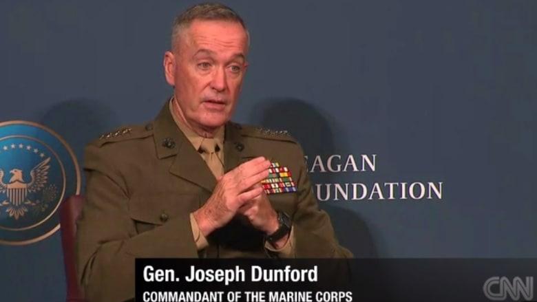 قائد المارينز يفجر مفاجأة: نصف قواتنا الموجودة بأمريكا دون مستوى الاستعداد المطلوب وحرب داعش فاقمت الوضع