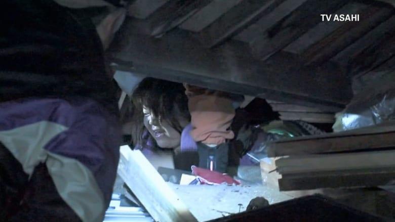 زلزال اليابان .. مشاهد من الدمار وانتشال ناجين من تحت الأنقاض
