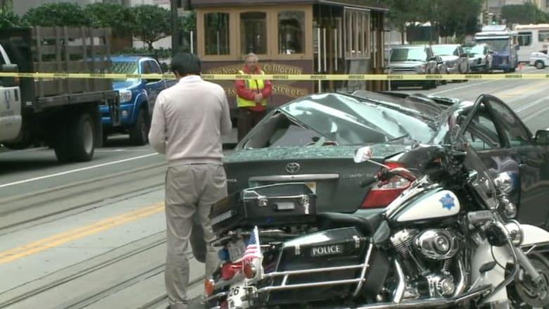 ينجوان بأعجوبة..سائق وشخص سقط على سيارته من الطابق 11