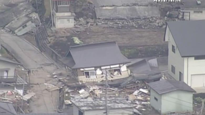 بالفيديو.. كيف يبدو الدمار الذي خلفه زلزال اليابان من الجو؟