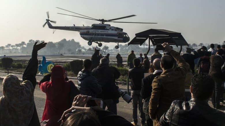 المرمروحية مبارك تقلع في طريقها للمحكمةوحية