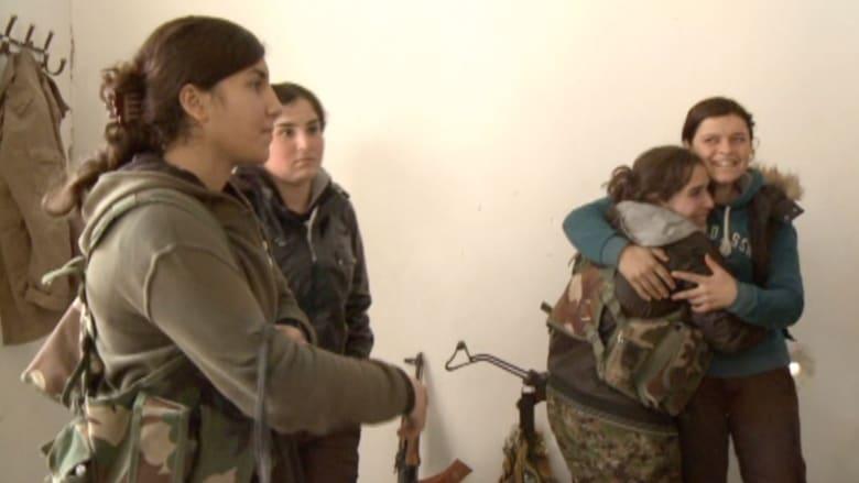"""CNN على جبهة القتال مع """"داعش"""" بقيادة المقاتلة الكردية ميديا"""
