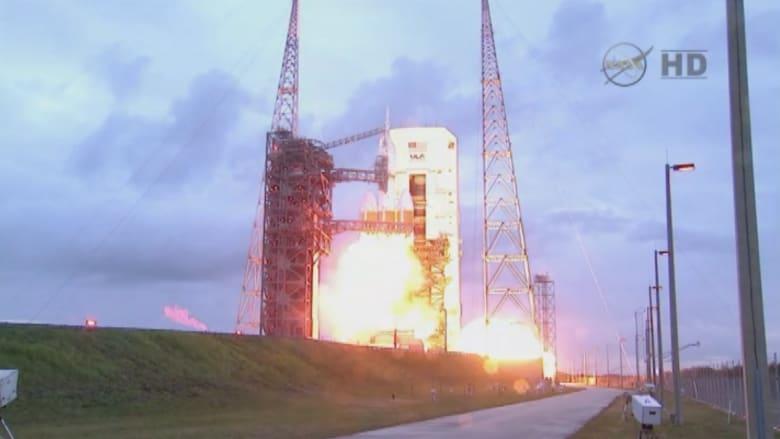 """بالفيديو.. إطلاق مركبة الفضاء """"أوريون"""" بنجاح بعد تأجيل"""