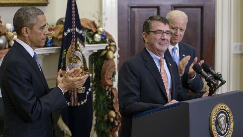 وزير الدفاع الأمريكي تشاك هاغل يتغيب عن حفل ترشيح خليفته في البيت الأبيض
