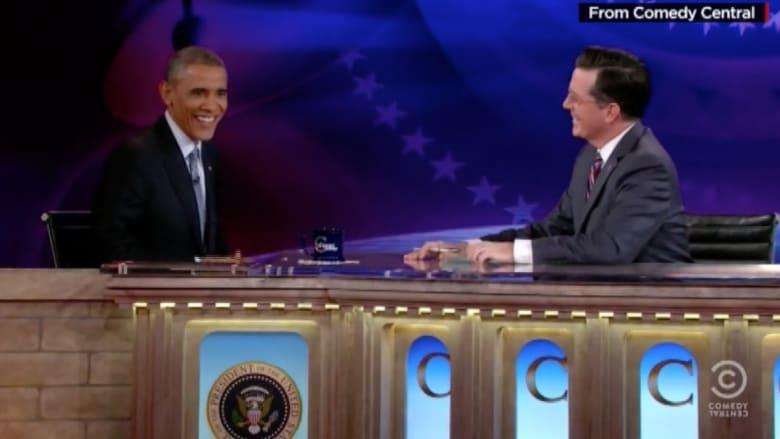 أوباما يخلط الهزل بالسياسة ويتحدث عن انتمائه للشباب من أصل أفريقي المتذمرين من الشرطة