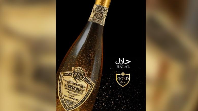 """نبيذ """"حلال"""" يسرق الأضواء في الشرق الأوسط برقاقات من الذهب"""