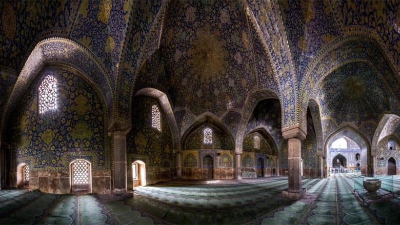 مسجد الشاه، الموجود في نقشيجاهان بإصفهان، إيران.