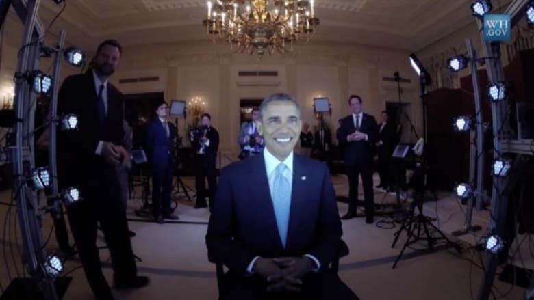 بالفيديو.. أوباما يستعد لصنع تمثال ثلاثي الأبعاد له