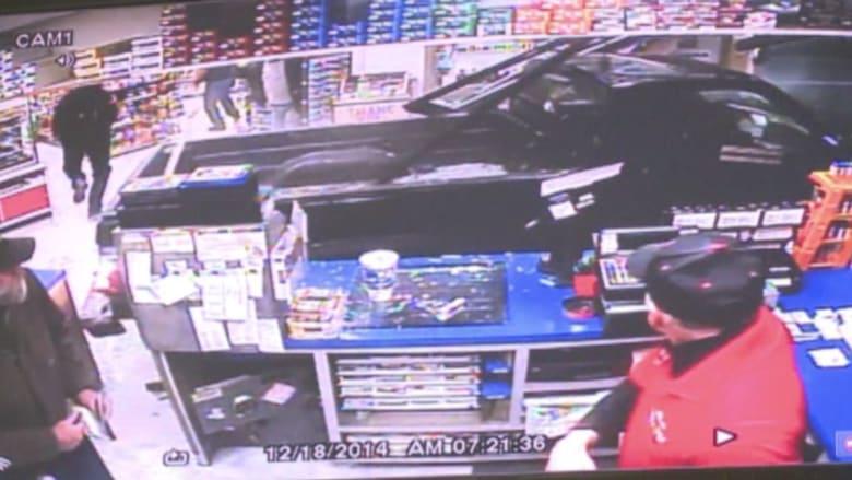 بالفيديو.. مطاردة مع الشرطة ومصور يرصد تصرف دب مع دمية سانتا