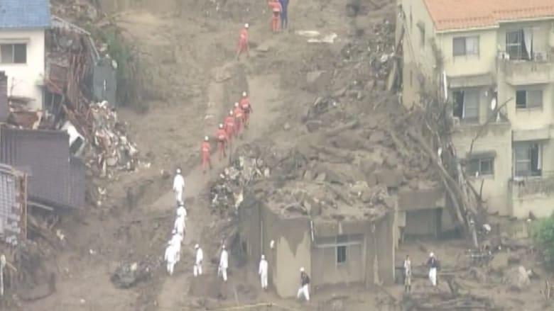 هيروشيما .. قتلى ومفقودون في انهيارات أرضية