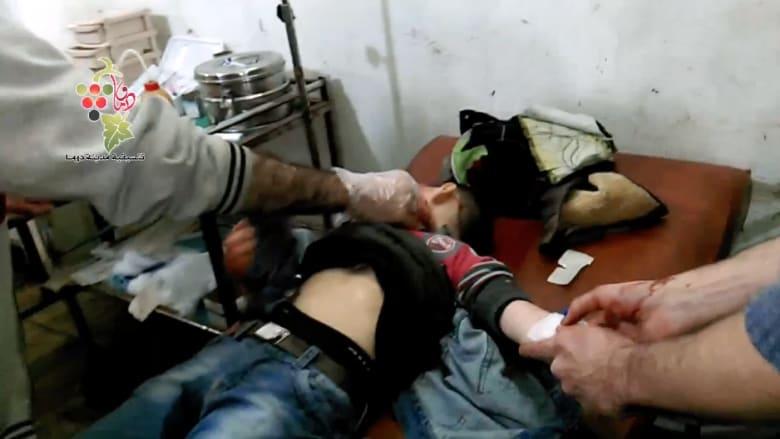 بالفيديو.. عشرات الضحايا في غارات للطيران السوري على دوما