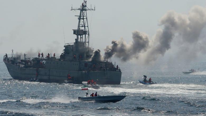 بوارج ومدمرات وغواصات وصواريخ في عرض لقوة إيران من أعلى هرمز إلى أسفل عدن