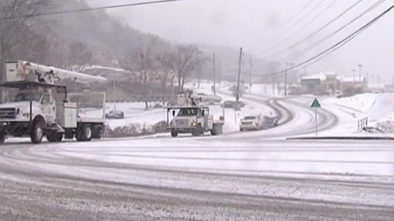 العواصف الثلجية تهدد مئات الآلاف في أمريكا