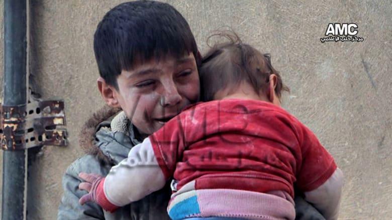 مأساة سوريا دليل تذرفها دموع أطفالها
