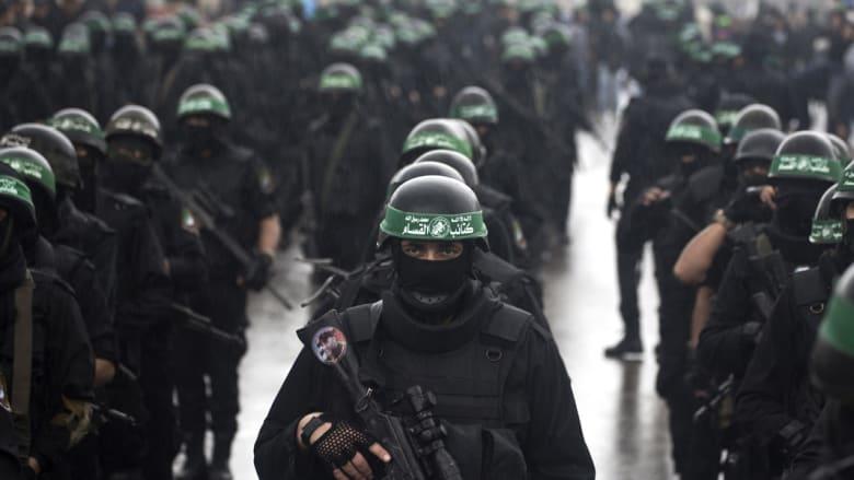 بالصور.. حركة حماس تقدم عرضا عسكريا بغزة