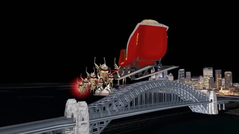 الجيش الأمريكي يتتبع سانتا كلوز ويرصد رحلته من الفضاء