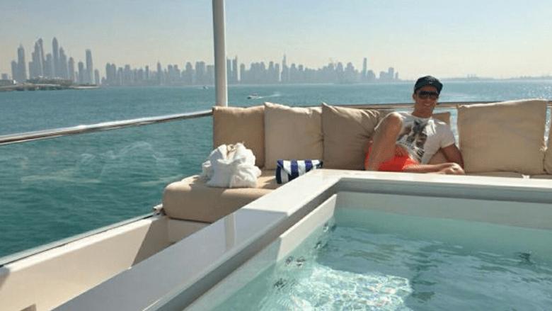كريستيانو رونالدو يستعد لميلان مع اسرته في صحاري وشواطئ ومحلات دبي