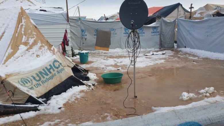 لقطات من زيارة عاصفة هدى لمخيم الزعتري