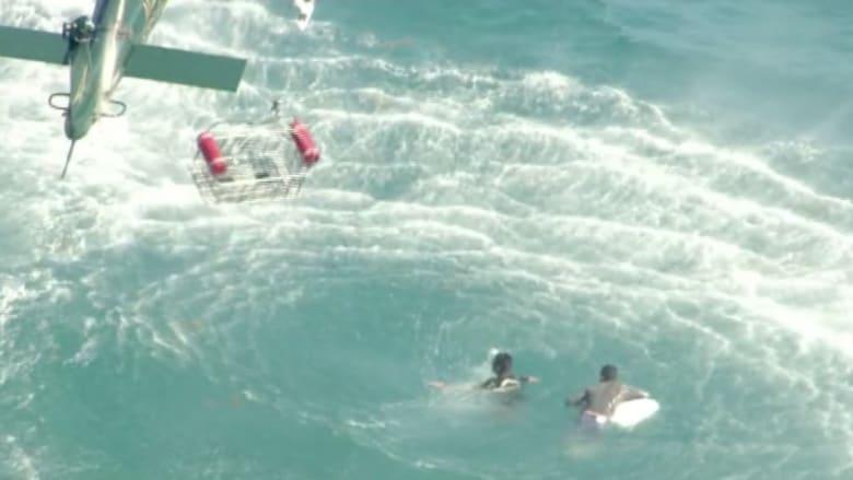 بالفيديو.. انقاذ ثمانية مهاجرين حوصروا في مياه فلوريدا