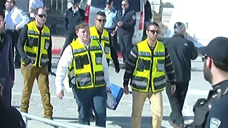 """شاهد.. وصول جثامين ضحايا """"هجوم باريس"""" إلى القدس"""