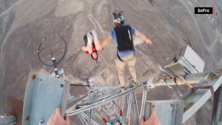 تسع حركات بهلوانية من ارتفاع أكثر من 1000 قدم