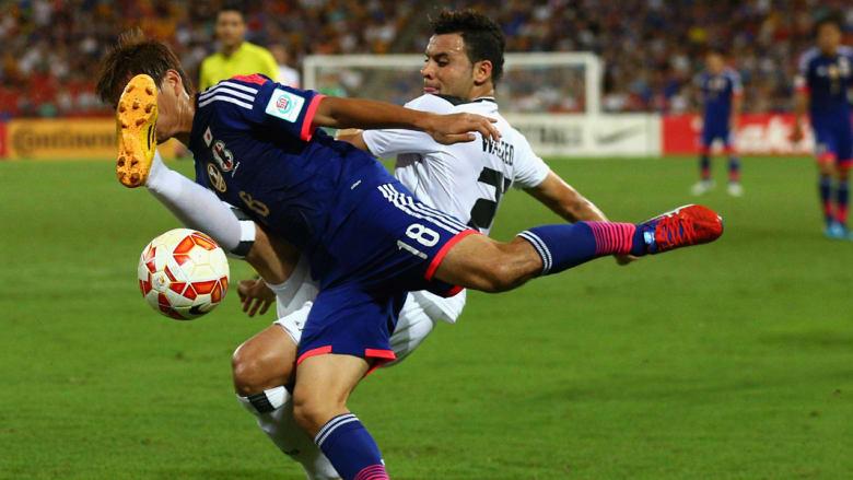 من مباراة المنتخبين العراقي والياباني