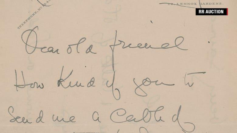 بخط اليد.. رسالة من ناجية .. زوجي لم يدفع رشوة لطاقم تايتانيك