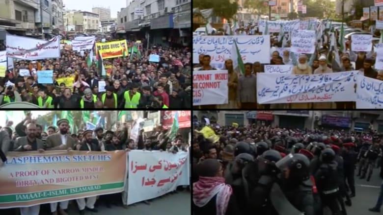 """بالفيديو.. غضب المسلمين من """"رسم النبي"""" ورئيس تحرير شارلي أيبدو يرد"""