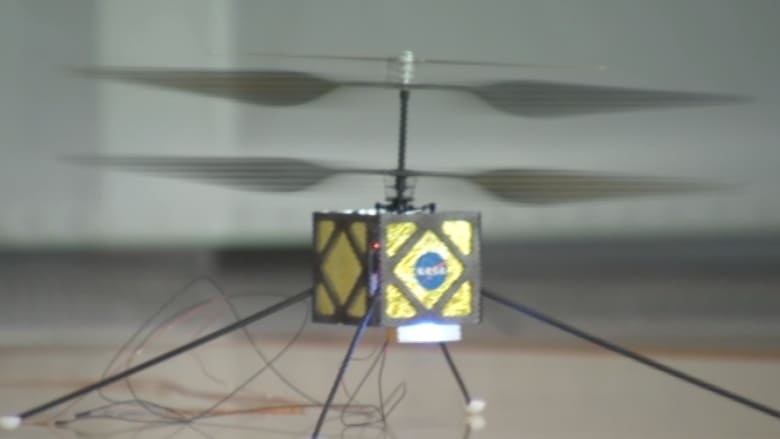 """شاهد.. المروحية التي تطورها """"ناسا"""" للتحليق بأجواء المريخ"""