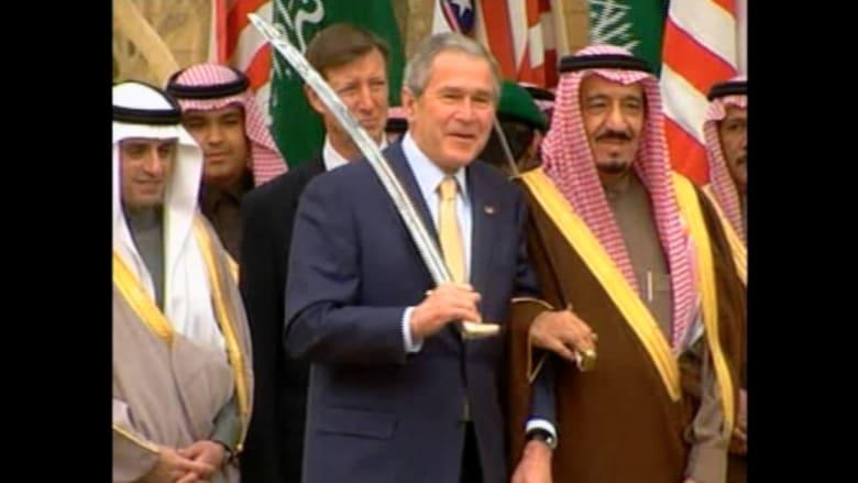 أوباما لن يرقص العرضة مع سلمان لكن ذكرياتها مع بوش ستحضر