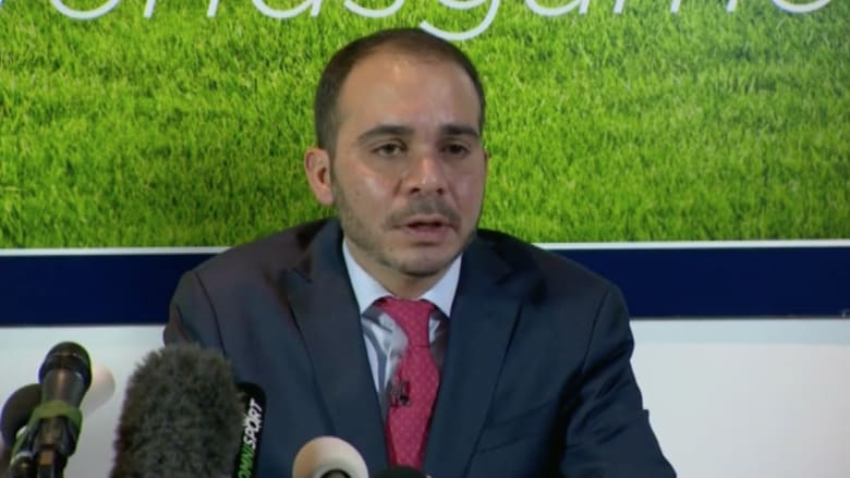 الأمير علي بن الحسين: إذا أصبحت رئيس الفيفا سأتحمل المسؤولية