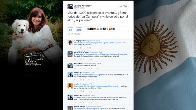 تغريدة لرئيسة الأرجنتين عن اللغة الصينية تثير ضجة
