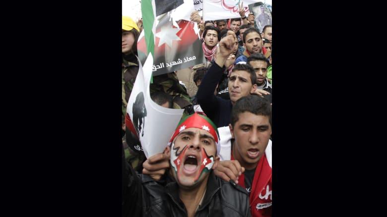 """احتجاجات على مقتل الطيار الكساسبة على يد """"داعش"""" تعم الأردن.. والملكة تشارك"""