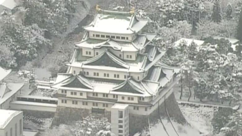 بالفيديو.. مشاهد مذهلة للثلوج في اليابان