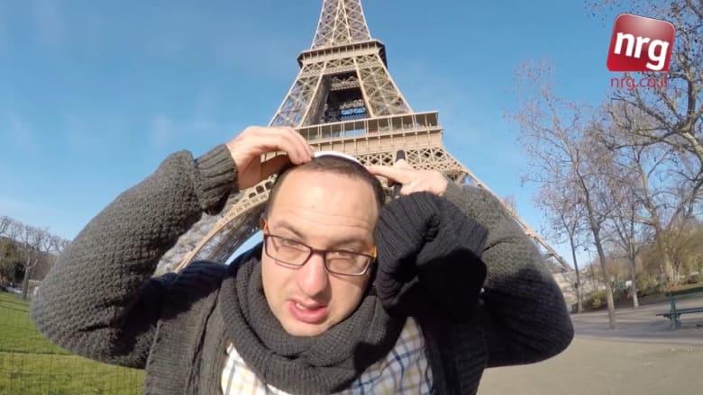 """شاهد: صحفي يهودي يُواجه بشتائم وهتافات """"عاشت فلسطين"""" بقلب باريس"""
