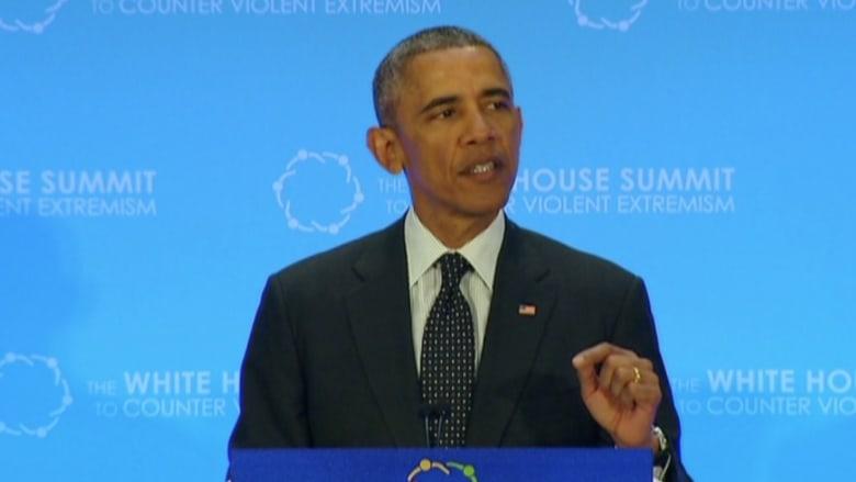 """أوباما يدعو لمحاربة """"جذور الإرهاب"""" ويؤكد: الإدعاء بأننا في حرب مع الإسلام """"أكذوبة قبيحة"""""""