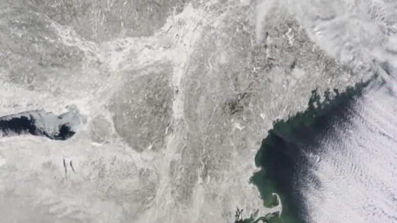 ناسا ترصد ثلوج أمريكا من الفضاء