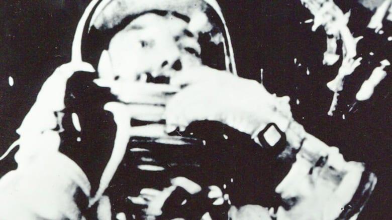 """رائد الفضاء آلان شيبارد على مركبة """"فريدوم 7"""" في مايو/أيار 1961"""