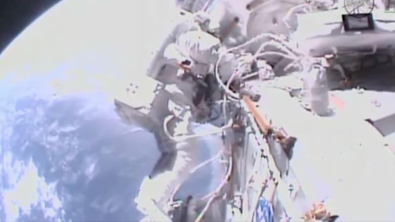 بالفيديو.. رواد فضاء يسبحون خارج المحطة الدولية